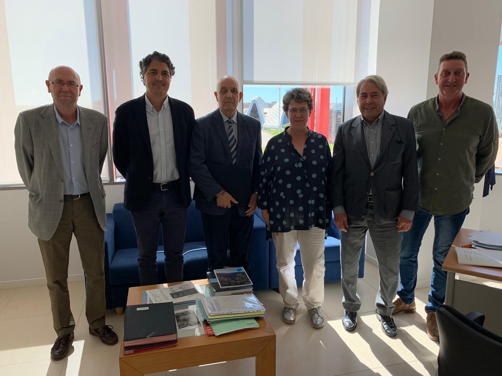 ARESPA CON LOS DIRECTORES GENERALES DE PATRIMONIO CULTURAL DE CASTILLA Y LEÓN Y ARAGÓN